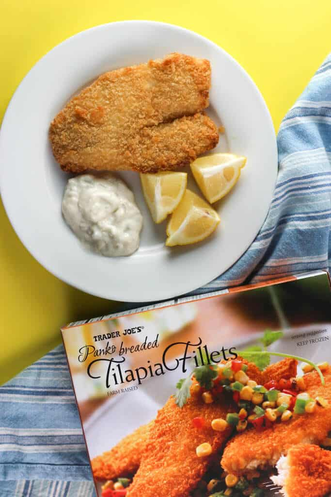 Trader Joe's Panko Breaded Tilapia Fillets fully cooked