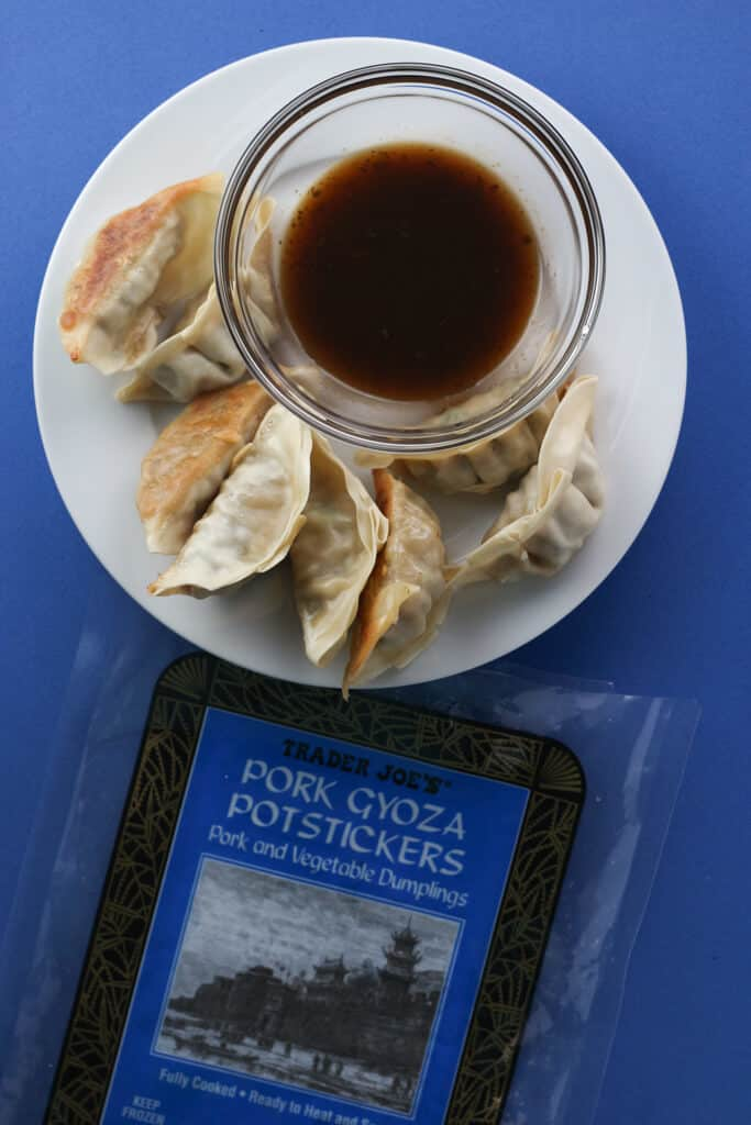 Trader Joe's Pork Gyoza Potstickers fully cooked