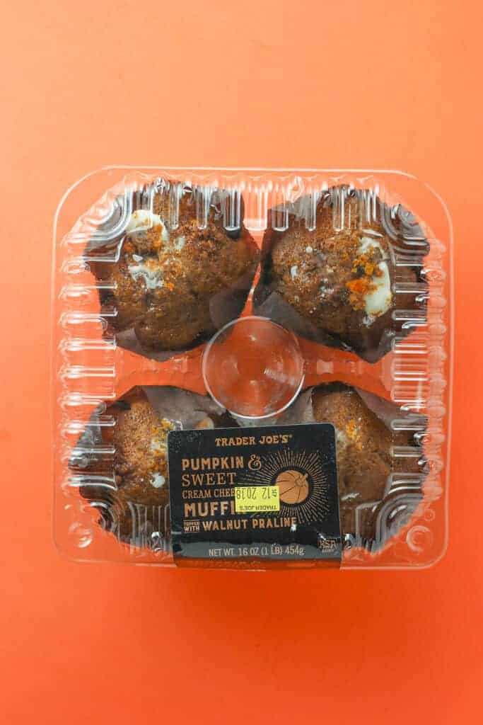 Trader Joe's Pumpkin and Sweet Cream Cheese Muffins Topped with Walnut Praline