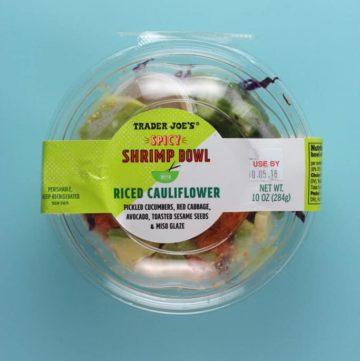 Trader Joe's Spicy Shrimp Bowl with Riced Cauliflower