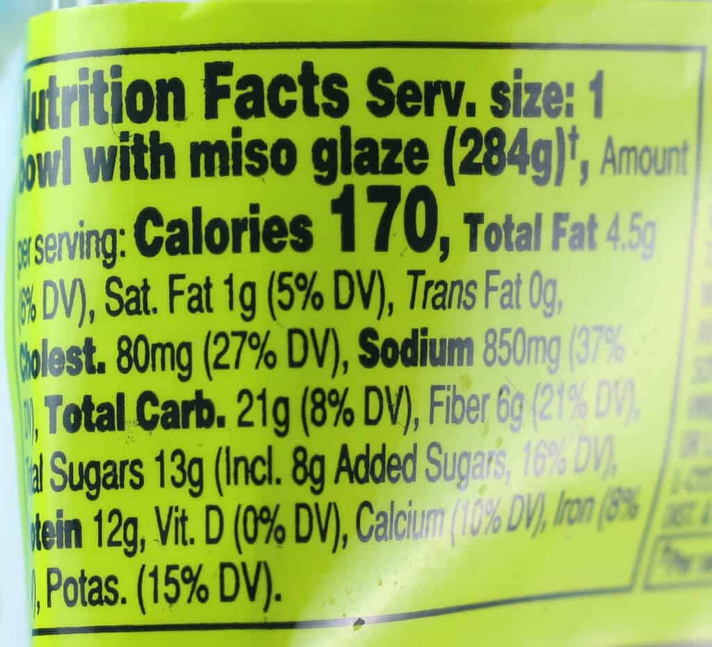 Trader Joe's Spicy Shrimp Bowl with Riced Cauliflower nutritional information
