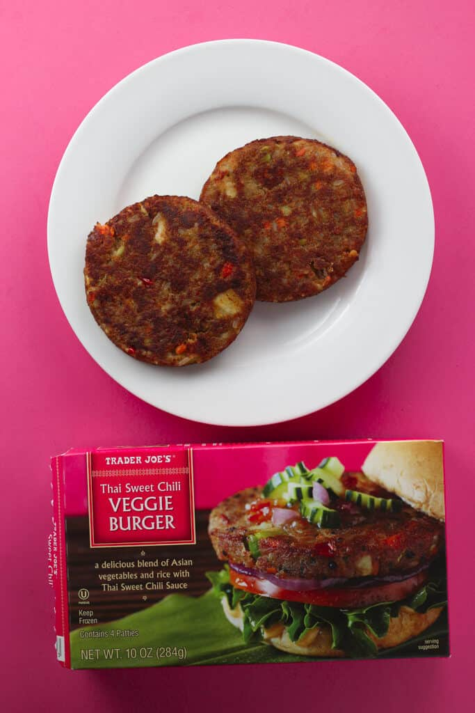 Trader Joe's Thai Sweet Chili Veggie Burger fully cooked