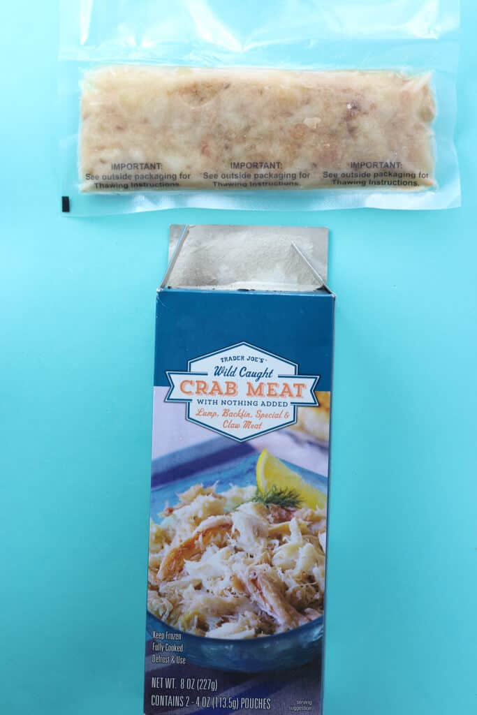 Trader Joe's Wild Caught Crab Meat out of the package