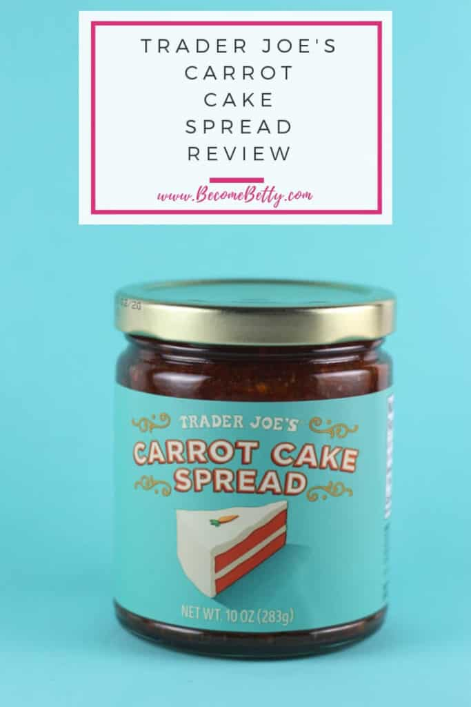 trader joe's carrot cake spread