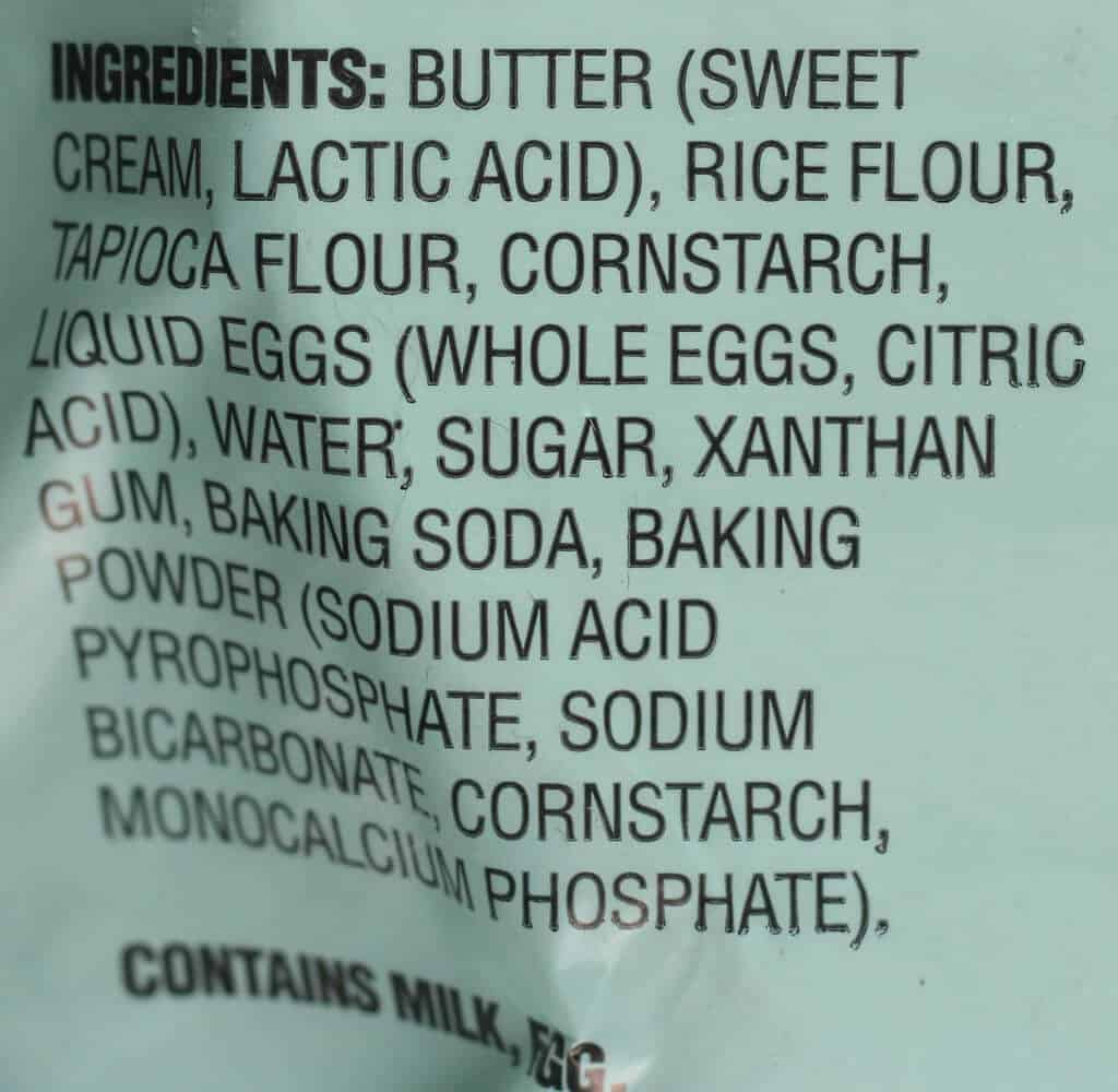 Ingredient list for Trader Joe's Gluten Free Pie Crust