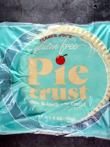 An unopened Trader Joe's Gluten Free Pie Crust