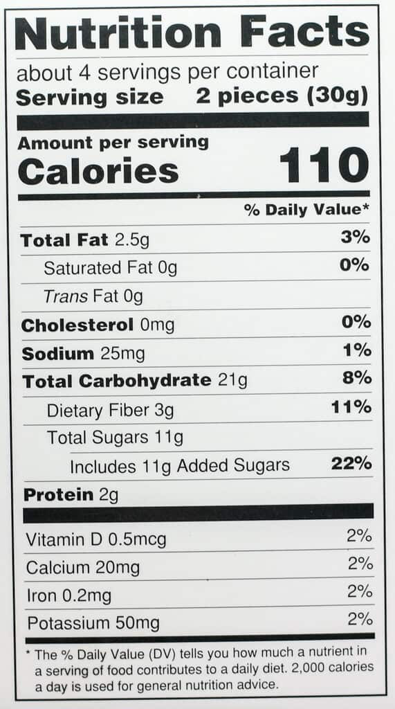 Nutritional information and calories for Trader Joe's Soft Honey Nougat with Almonds
