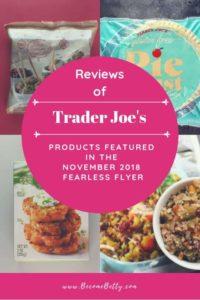 Trader Joe's November 2018 Fearless Flyer Matchups image for Pinterest