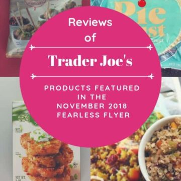 Trader Joe's November 2018 Fearless Flyer Matchups image for Pinterest