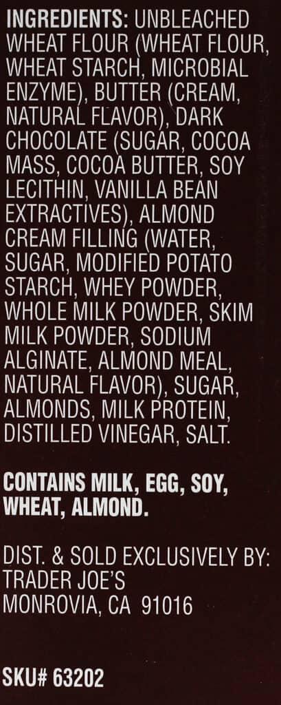 Ingredients in Trader Joe's Chocolat En Croute