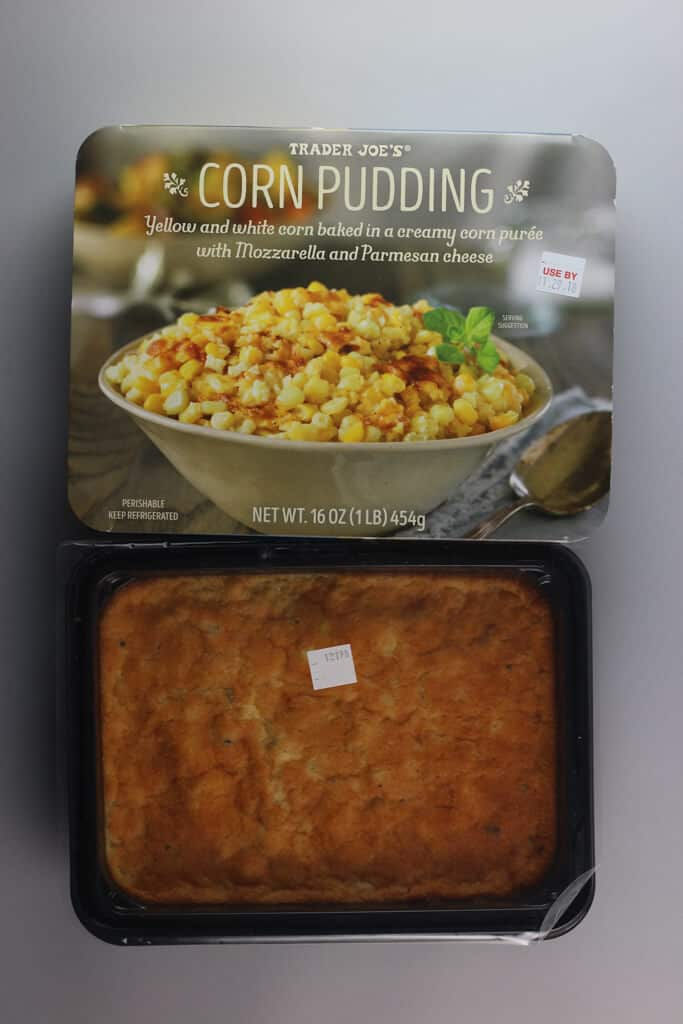 What Trader Joe's Corn Pudding looks like before it is cooked