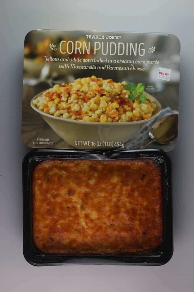 A fully cooked Trader Joe's Corn Pudding
