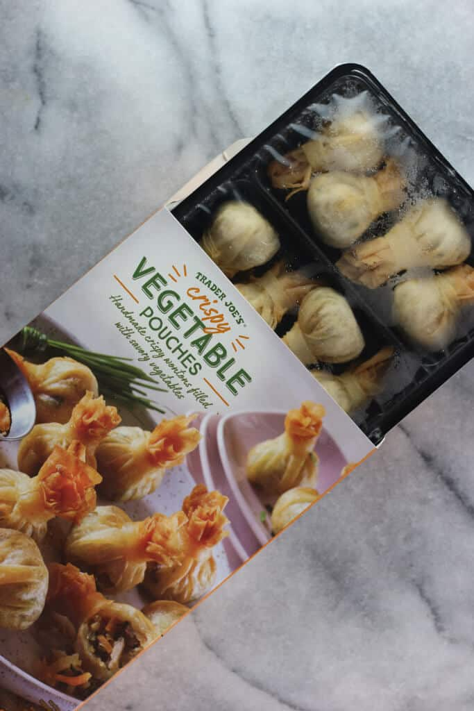 Trader Joe's Crispy Vegetable Pouches out of the box