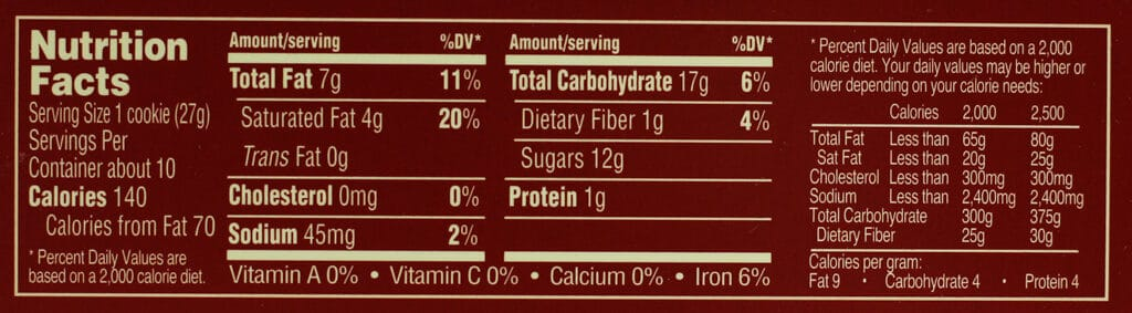 Nutritional and ingredient information in Trader Joe's Dark Chocolate Covered Peppermint Joe Joes