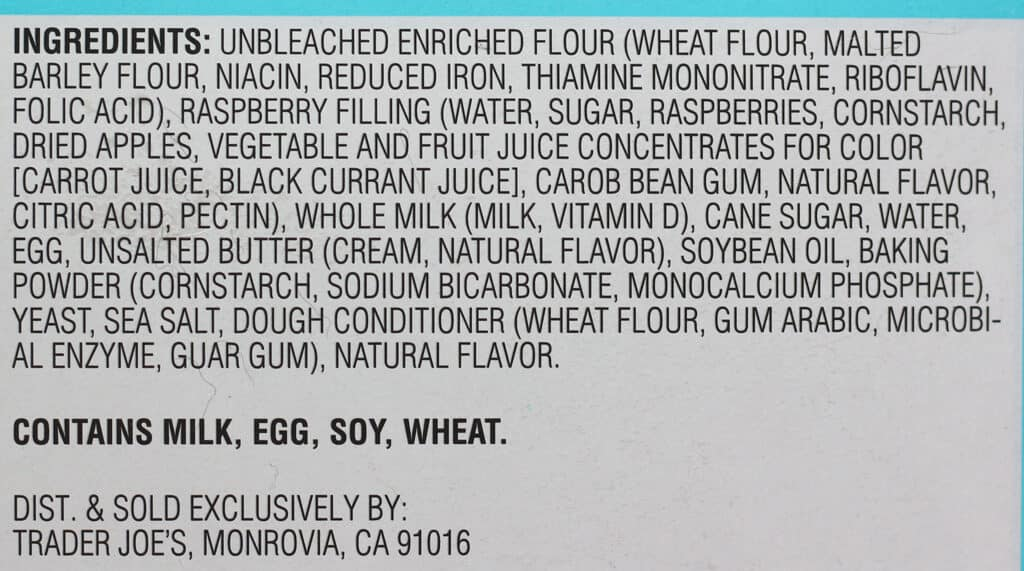 Ingredients in Trader Joe's Donut Bites