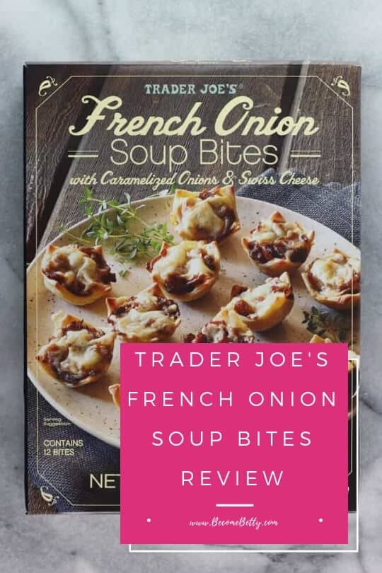 Pinterest image for Trader Joe's French Onion Soup Bites