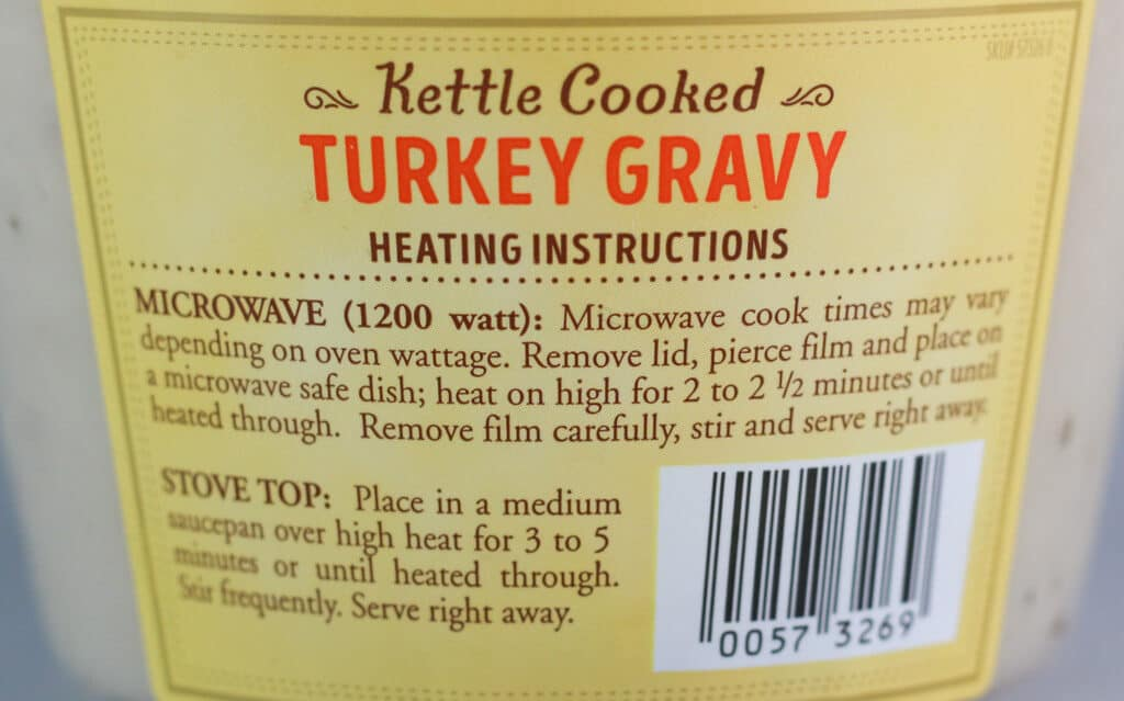 Directions for Trader Joe's Kettle Cooked Gravy