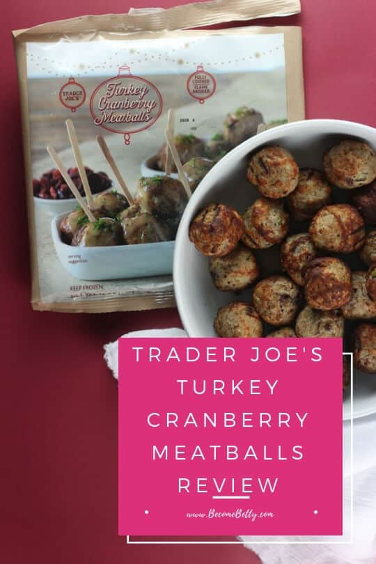 Trader Joe's Turkey Cranberry Meatballs pinterest image