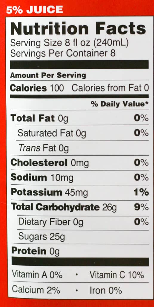 Calories and nutritional information for Trader Joe's Winter Wassail