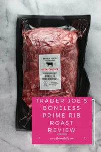 Pinterest image for Trader Joe's Boneless Prime Rib Roast review