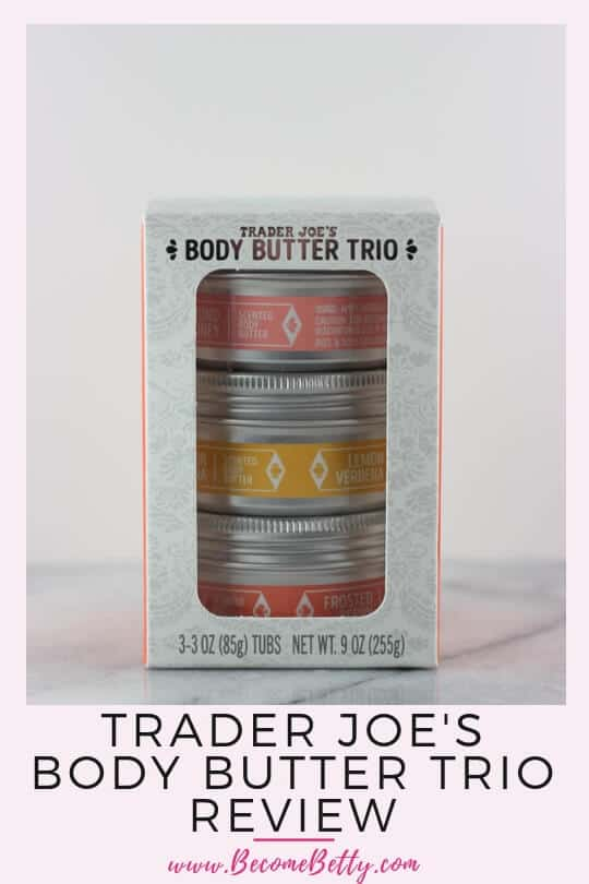 Pinterest image for Trader Joe's Body Butter Trio review