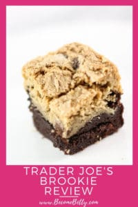 Trader Joe's Brookie review Pin for Pinterest