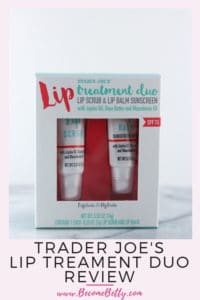 Pinterest image for Trader Joe's Lip Treatment Duo review