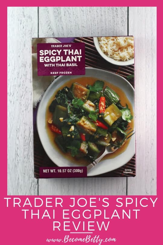 Pinterest image for Trader Joe's Spicy Thai Eggplant review