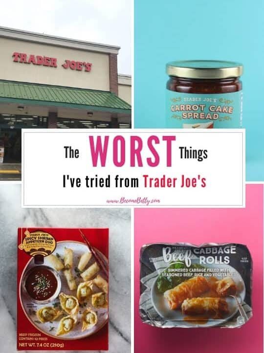 Pinterest image for The Worst Things I've Tried from Trader Joe's