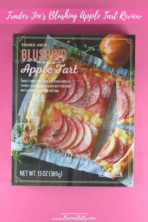 Pinterest image for Trader Joe's Blushing Apple Tart review