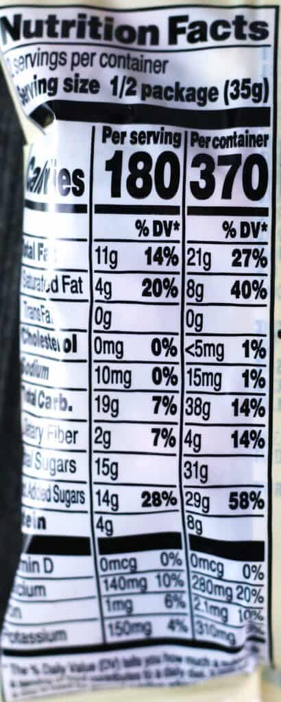 Nutritional information and calories in Trader Joe's Candy Coated Chocolate Peanuts