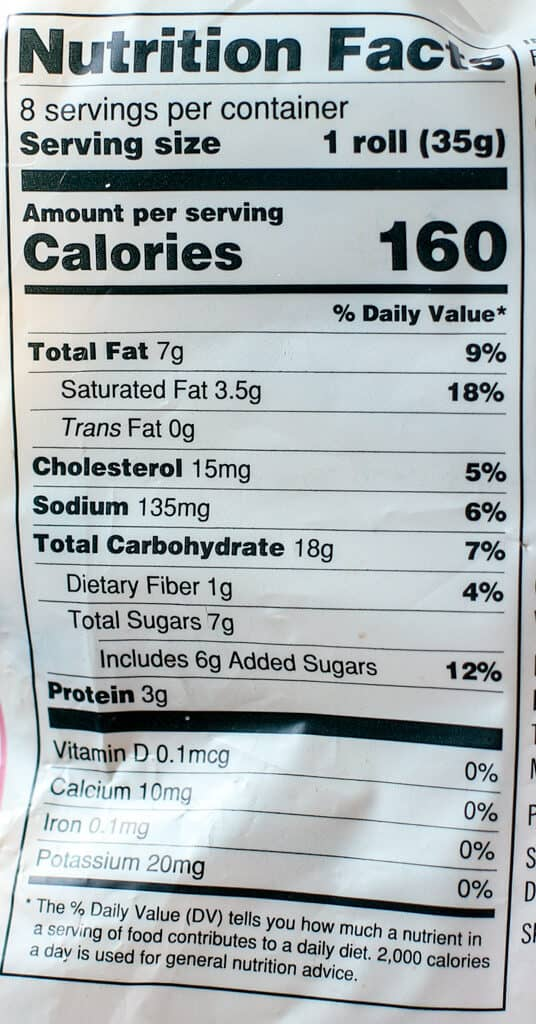 Trader Joe's Chocolate Chip Pain Au Lait nutritional facts and calories