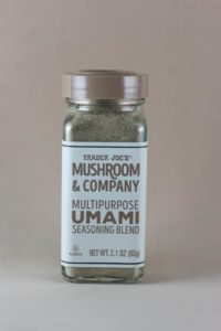 An unopened jar of Trader Joe's Multipurpose Umami Seasoning Blend