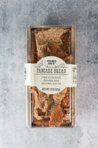 An unopened package of Trader Joe's Pancake Bread