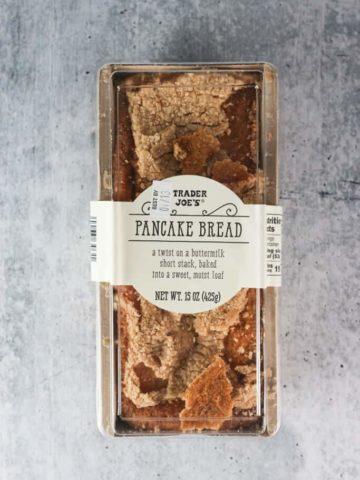 An unopened package of Trader Joe's Pancake Bread