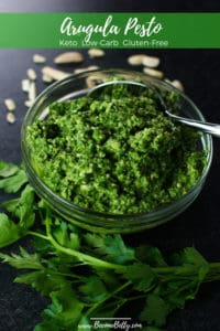 Finished Arugula Pesto Pin for Pinterest