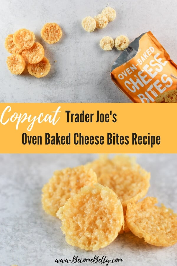 Copycat Trader Joe's Oven Baked Cheese Bites Recipe Pin for Pinterest