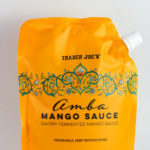 Trader Joe's Amba Mango Sauce review pin for pinterest