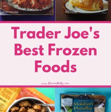 Trader Joe's Best Frozen Foods list image for Pinterest