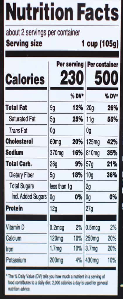 Calories and nutritional information in Trader Joe's Creamy Chicken and Poblano Ravioli