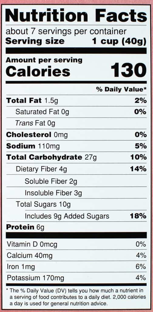 Nutritional information and calories in Trader Joe's Neapolitan Puffs Cereal