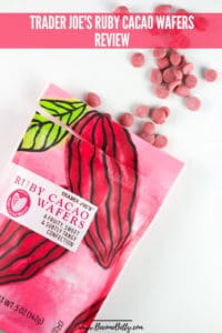 Trader Joe's Ruby Cacao Wafers review image for Pinterest