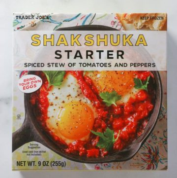 An unopened box of Trader Joe's Shakshuka Starter