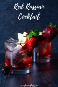 Red Russian Cocktail Pin for Pinterest