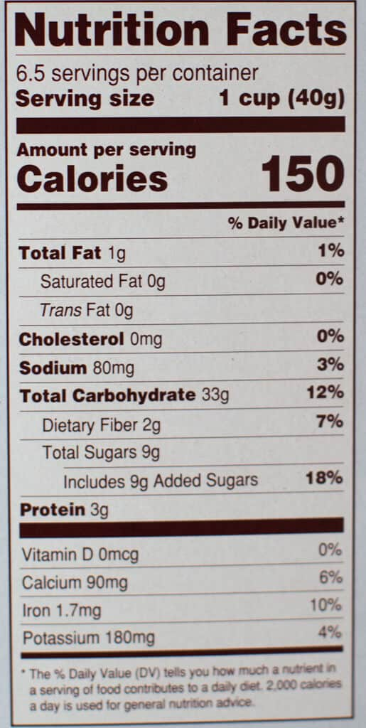 Nutritional facts and calories in Trader Joe's Cocoa Crunch Cereal
