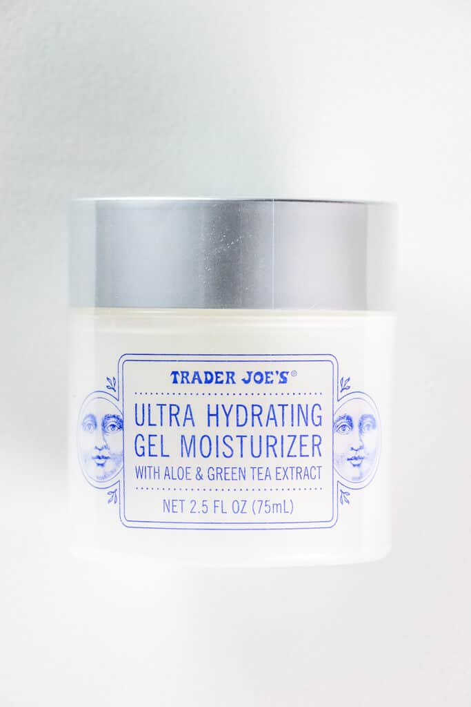 An unopened container of Trader Joe's Ultra Hydrating Gel Moisturizer