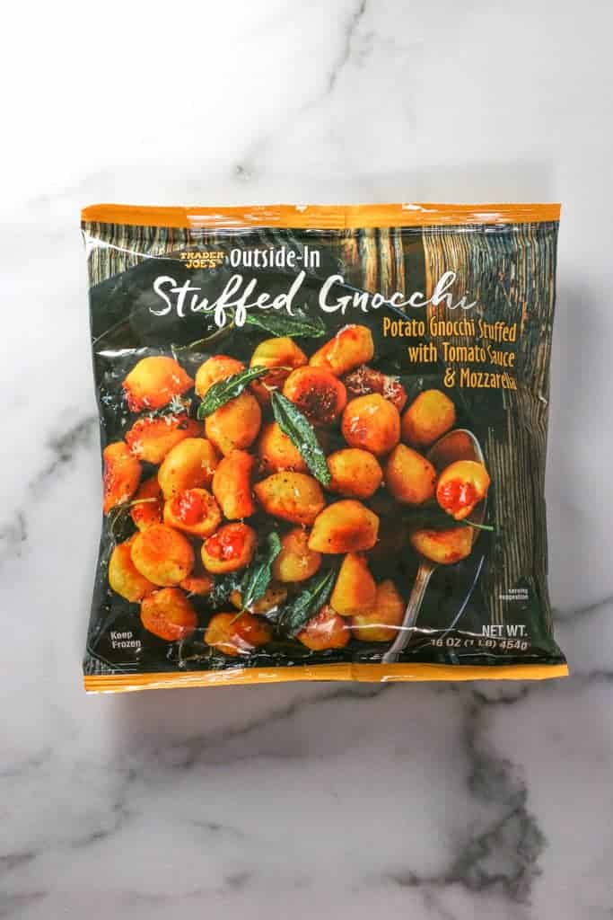 Unopened bag of Trader Joe's Outside In Stuffed Gnocchi