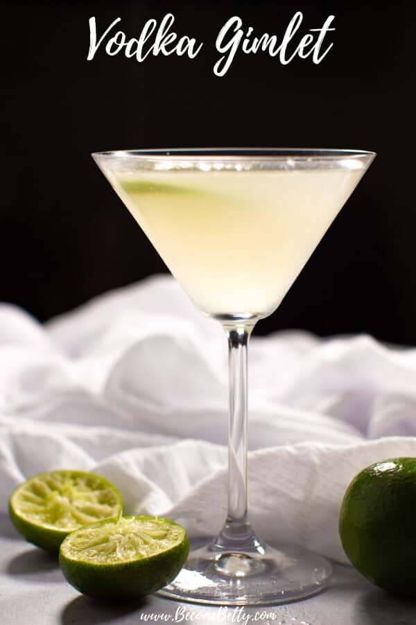 Vodka Gimlet Recipe Pin for Pinterest