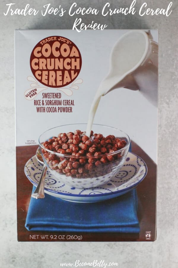 Trader Joe's Cocoa Crunch Cereal review Pin for Pinterest
