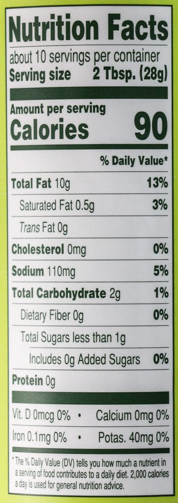 Nutritional information and calories in Trader Joe's Jalapeno Sauce